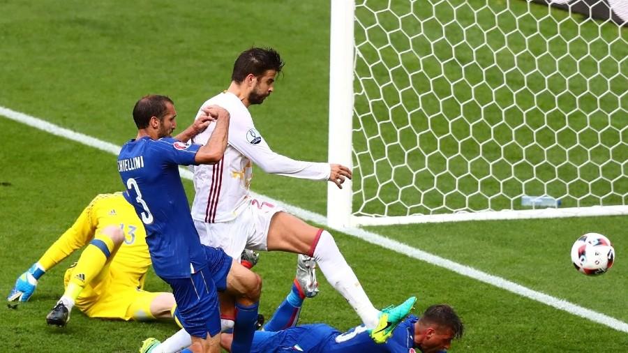 Gol de Chiellini en el minuto 32   Foto: UEFA