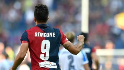 GIo SImeone, dopo il 1° gol in Serie A