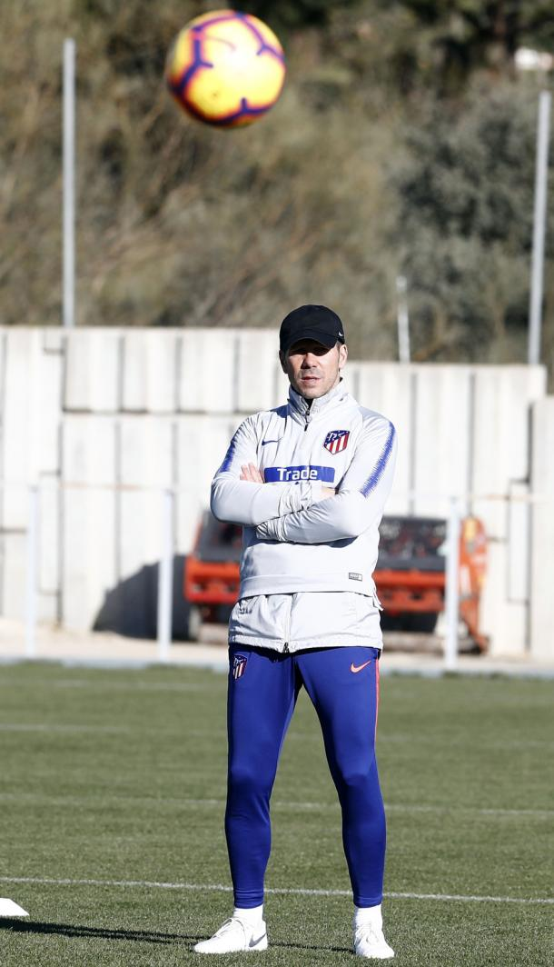 Simeone en un entrenamiento / Fuente: VAVEL