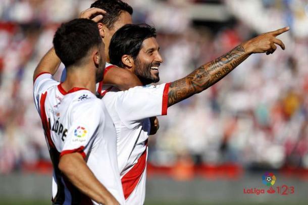 Chori celebrando un gol   Fotografía: La Liga