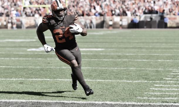 Nick Chubb se mete en el top ten por primera vez. Foto: Browns.
