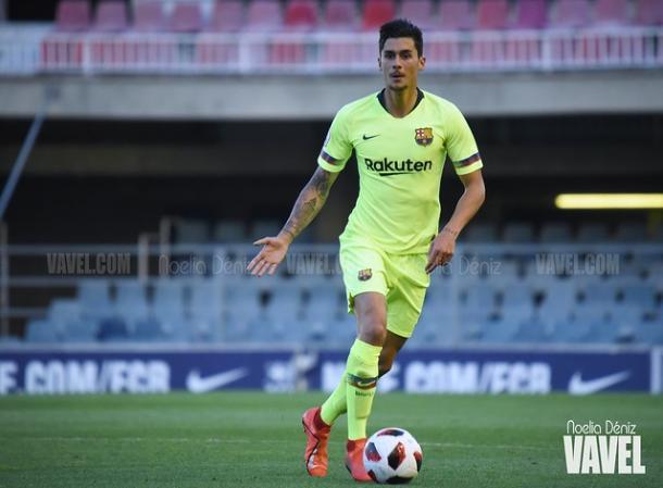 Imagen de Chumi, jugador del Barça B. FOTO: Noelia Déniz