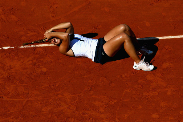 Cibulkova recorded a fine victory over Sharapova in 2009 to reach her solitary French Open semifinal (Photo by Matthew Stockman / Getty)