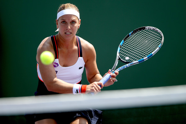 Cibulkova is embracing her position as a top player now being hunted (Photo by Matthew Stockman / Getty Images)
