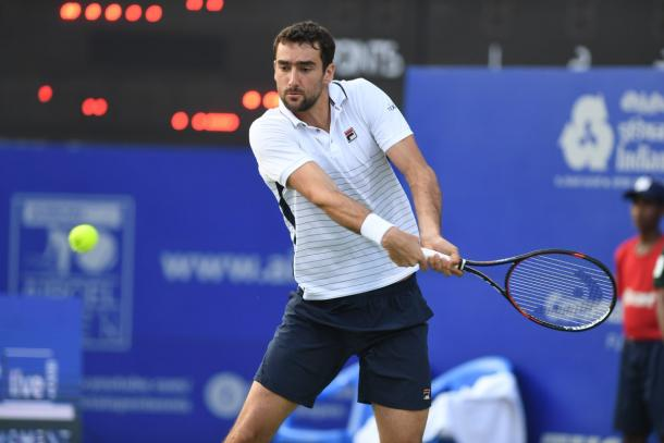 Cilic suffered a shock first round exit in Chennai (Source: @chennaiopen)