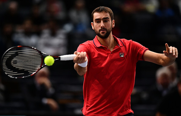 Cilic during his quarterfinal encounter with Djokovic (Photo by Dan Mullan / Getty Images)