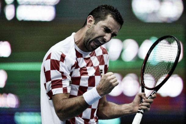 Cilic celebra vitória e classificação/ Foto: AFP /Andrej Isakovic