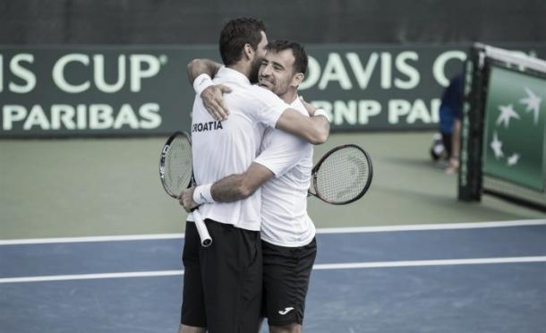 Cilic e Dodig celebram vitória/ Foto: ITF/ Divulgação