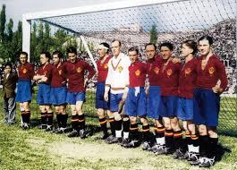 Ciriaco, con la Selección Nacional, en las Olimpiadas de Amsterdam. Fuente: futbolnostalgia.com