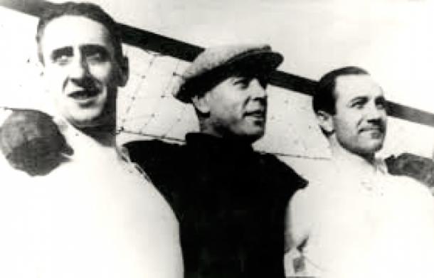 Ciriaco y Quincoces, junto a Ricardo Zamora. Fuente: defensacentral.com