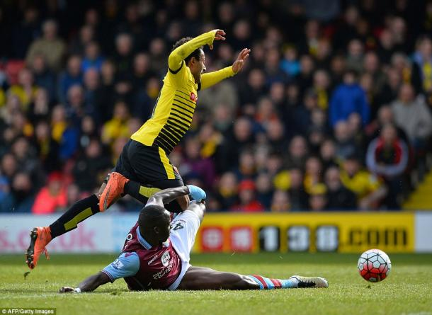 Cissokho's foul resulted in him being sent off (photo: Getty Images)