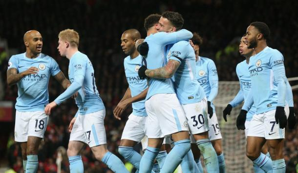 Altra immagine dal match.   Fonte immagine: twitter Manchester City