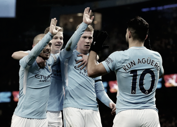 El Manchester City preparado para la vuelta./ Foto: Twitter Manchester City