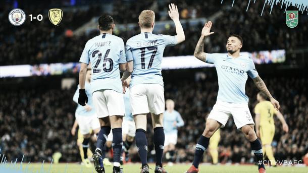 De Bruyne abriu o placar da goleada (Reprodução / Manchester City)