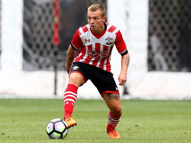Clasie in action during the pre season tour of Holland. Photo source: Saintsfc