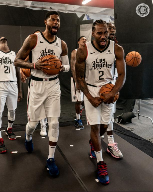 los nuevos Clippers liderados por Kawhi Leornar y Paul George | Foto: @LAClippers