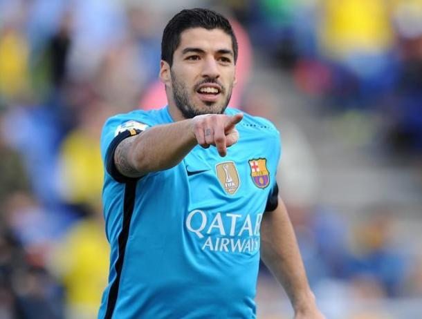 Luis Suarez celebrates scoring his 25th goal of the season ( Photo: Mundo Deportivo