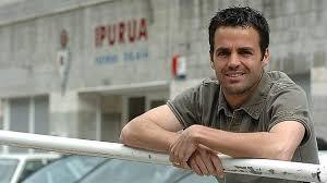 Lluis Codina, junto al estadio de Ipurúa, en su etapa en el Eibar. Fuente: sdeibar.com