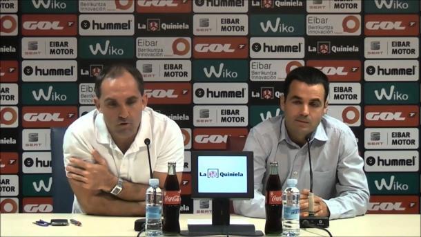 Lluis Codina, el día de su presentación con el Eibar. Fuente: sdeibar.com