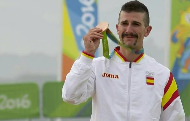 Carlos Coloma, emocionado con su bronce   Fuente: Tribuna Deportiva.