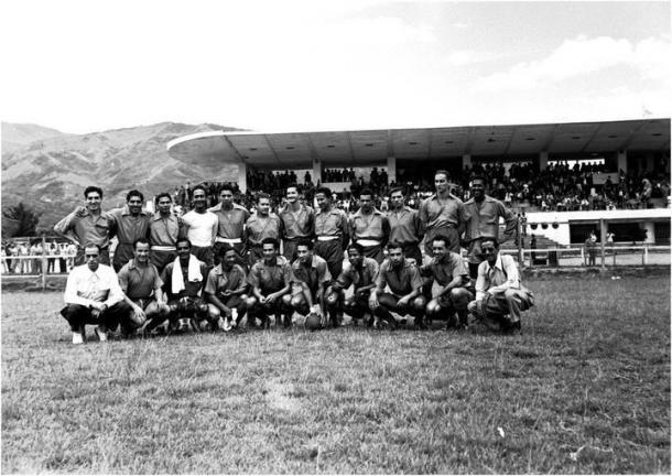 Año 1951, para ese entonces el club se llamaba Atlético Nacional   Fuente: Archivo fotográfico