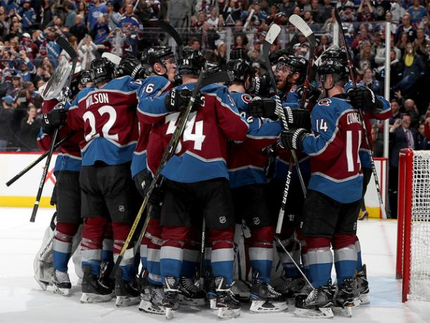 The Colorado Avalanche waited until the very last game of the season to clinch the playoffs. (Photo: Matthew Stockman)