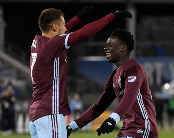 Dominique Badji was the man of the match for Colorado | Source: Andy Cross-The Denver Post