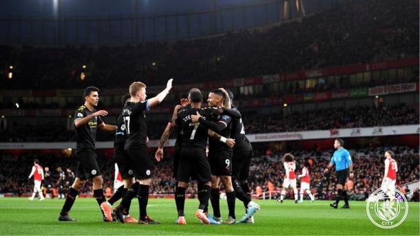 City comemora seu terceiro gol no jogo (Divulgação / City)
