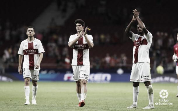 Jugadores del Huesca tras un partido | Foto: LaLiga