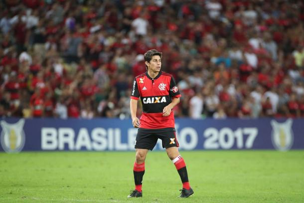 Conca com a camisa do Flamengo, onde não vingou (Foto: Reprodução / Flamengo)