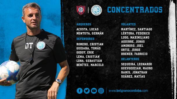Concentrados. Fuente: Belgrano oficial.