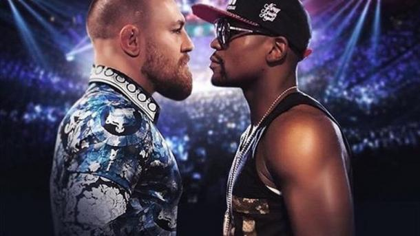 Could WWE host a meeting between Floyd Mayweather and Conor McGregor? (image: skysports)