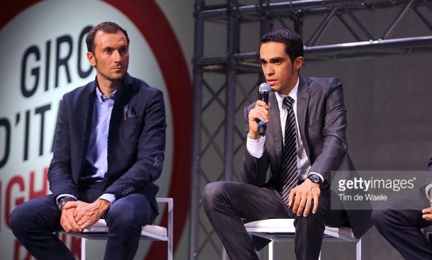 Dos amigos, Ivan Basso y Alberto Contador.   Fuente: GettyImages