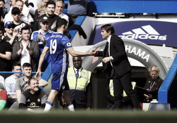 Conte colocou um ponto final na passagem vitoriosa de Diego pelos Blues (Foto: Mike Egerton/Getty Images)