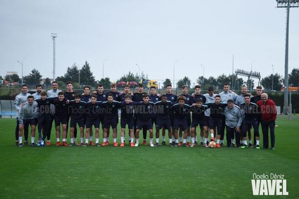 Imagen de equipo del FC Barcelona Juvenil A. FOTO: Noelia Déniz
