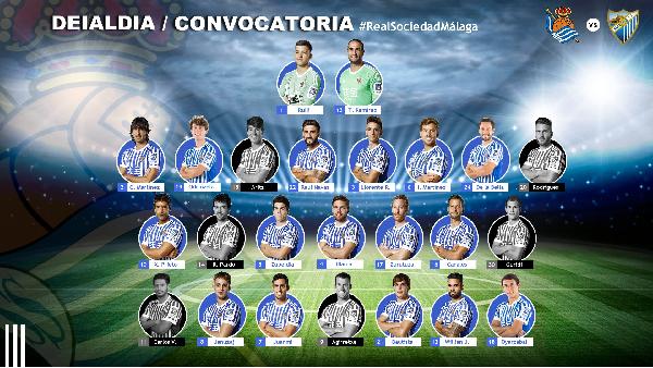 Convocatoria de la Real Sociedad. | Foto:Real Sociedad