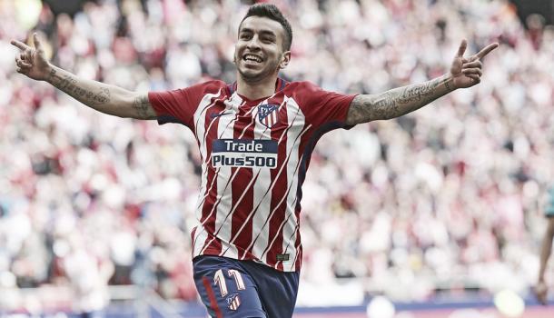 Ángel Correa celebrando su diana | Atlético de Madrid