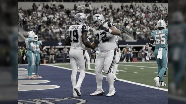 Amari Cooper firmo un contrato de 5 años y 100 con los Cowboys (foto Cowboys.com)