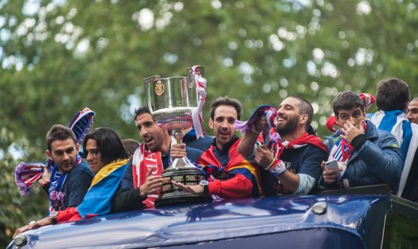Celebración del Atleti de la Copa del Rey 2013 en Madrid. / Fuente: Flickr VAVEL España