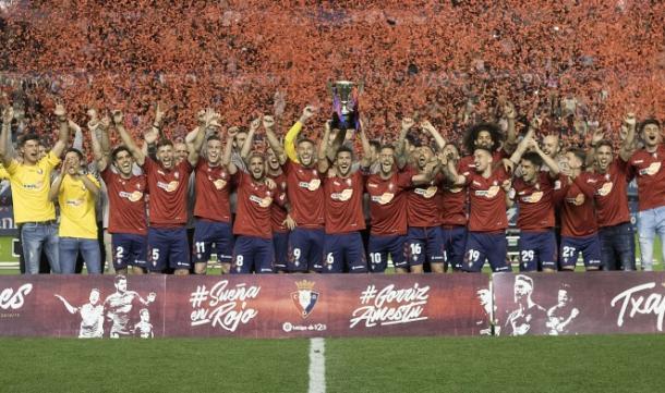 Osasuna celebra el campeonato de liga ante su afición