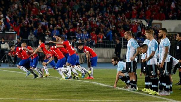 La imagen de la Copa América ´15. En los penales, Chile festejó (Foto: 24 horas.cl).