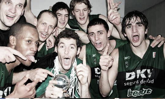La Copa del Rey del 2008, fue el último gran éxito verdinegro   Foto: Joventut de Badalona