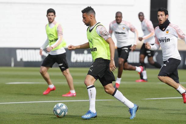 Entrenamiento antes de la Cuarentena / Foto: Web Oficial Valencia CF