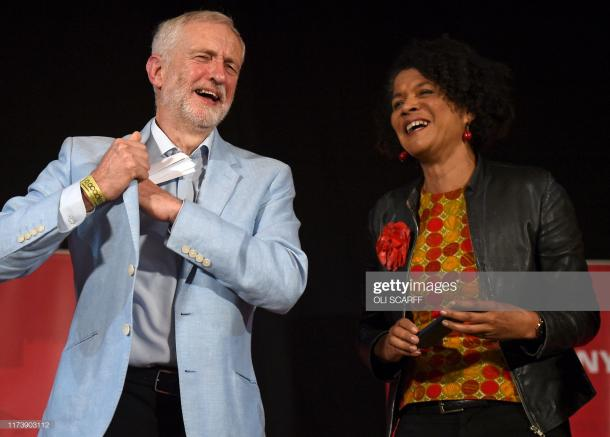 Jeremy Corbyn and Newcastle MP Chi Onwurah in Newcaslte (Photo by Oli Scarff/Getty Images)