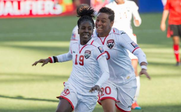 Kennya Cordner (Central) is leading Trinidad and Tobago with three goals in the championship. Photo provided by CONCACAF.