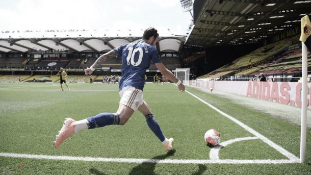 Córner ejecutado por Maddison./ Foto: Premier League