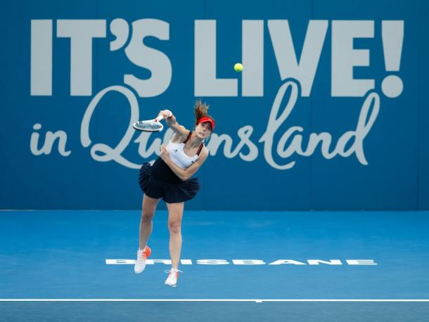 Cornet competing in Brisbane (Source : @brisbanetennis)