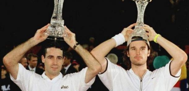 Corretja y Moyá en la final de 1998. Foto: atpworldtour.com