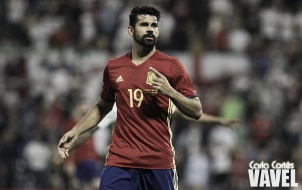 Diego Costa con la selección española. Fotografía: Carla Cortés