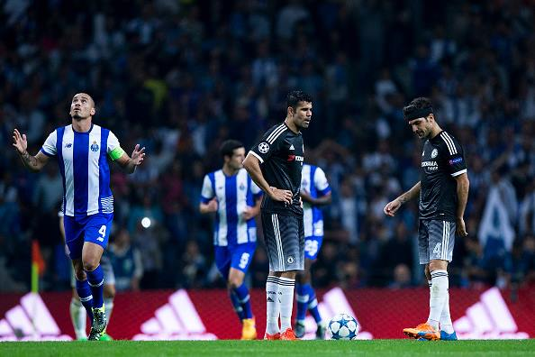 Costa looks dejected after a Porto goal (photo: getty)